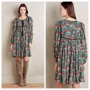 Anthropologie Floreat Ottava Peasant Dress